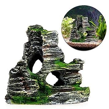 JAGETRADE Decoración para pecera, para acuario, decoración de cueva, árbol de pesca, decoración: Amazon.es: Hogar