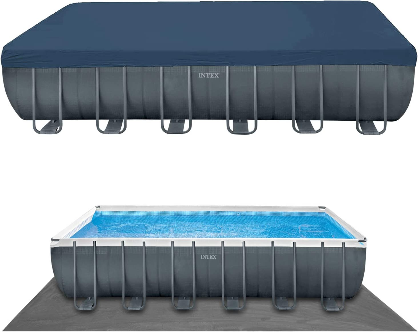 Intex 24Ft X 12Ft X 52In Ultra XTR Rectangular Pool Set: Amazon.es ...