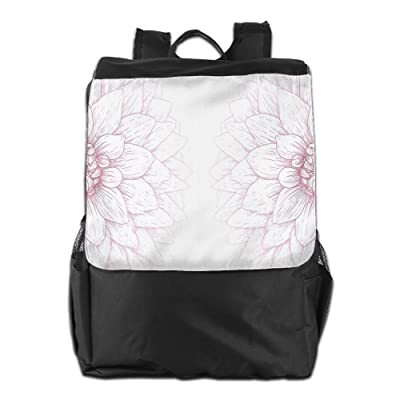 Newfood Ss Simplistic Drawing Of Bushy Sunflower Daisy Like Large Petals Outdoor Travel Backpack Bag For Men And Women
