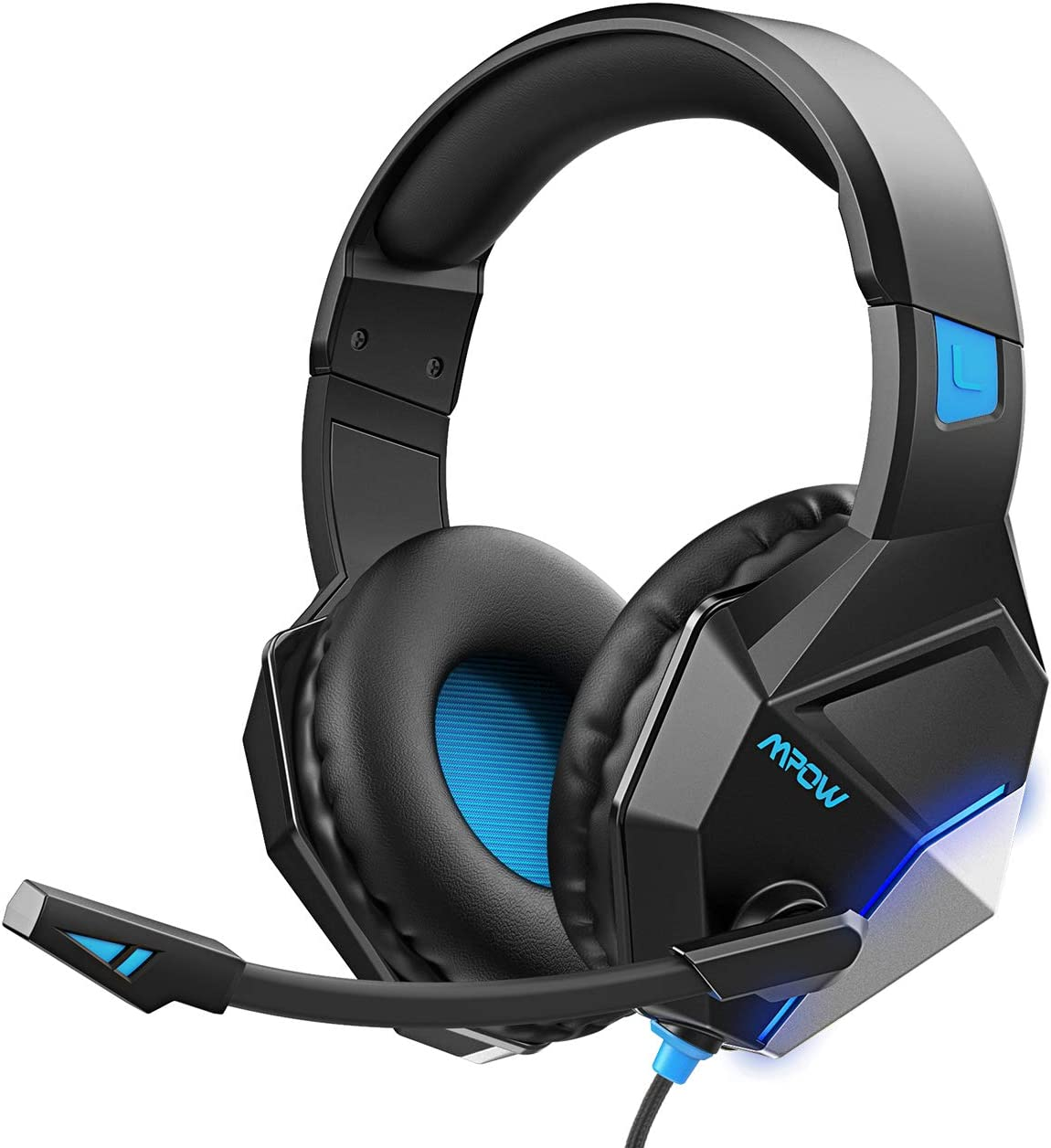 Mpow EG10 Gaming Headset for PS4, PC, Xbox One 254G Lightweight Edition , Wired Gaming Headphones with 3D Surround Sound, Noise Cancelling Mic, 50mm Drivers, Soft material Computer Headset