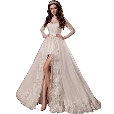 Hi Low Wedding Dresses With Sleeves