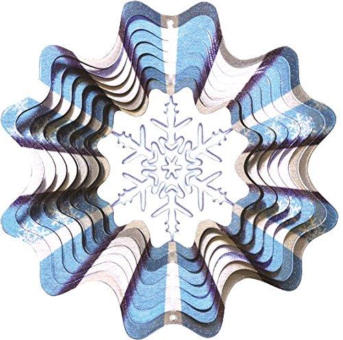 Spin Art Windspiel Schneeflocke