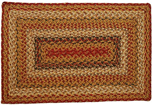 Homespice Rectangular Jute Braided Rugs, 2-Feet 6-Inch 6-Feet, Mustard ()