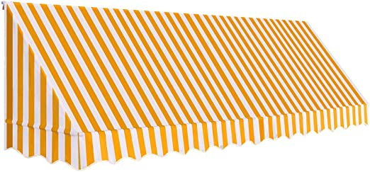 ghuanton Toldo para Bar 400x120 cm Naranja y blancoCasa y jardín Jardín Artículos de Exterior Toldos: Amazon.es: Hogar
