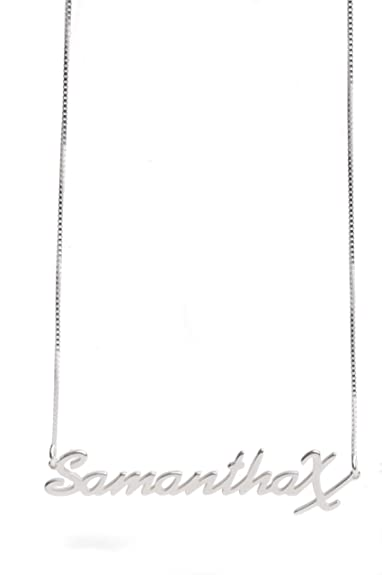 b7b4c0d73673d Dolce Valentina Personalised Name Necklaces 925 Sterling Silver Any ...