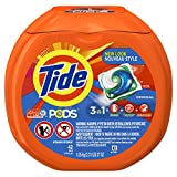 Tide PODS 3 in 1 HE Turbo Laundry Detergent Pacs, Original Scent, 42 Count Tub
