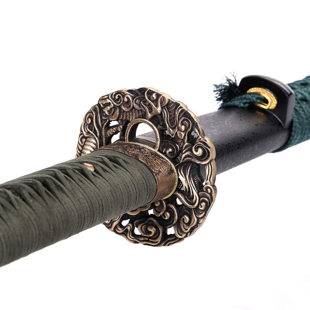 siwode Katana,Cloudy Dragon Copper Tang, T10 Clay_Tempered, 40-Inchs