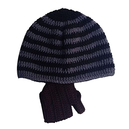 Amazon.com  VANKER Unisex Winter Ski Cycling Handmade Crochet ... 24a7b17d432