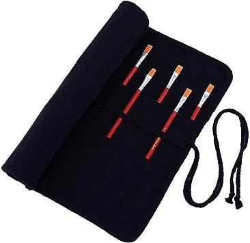 Abaría Bolso estuche enrollable para pinceles para pintar al Óleo/Acrílica/Acuarela: Amazon.es: Hogar