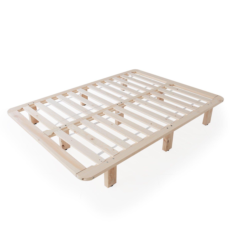 LOWYA すのこベッドフレーム 天然木 角丸