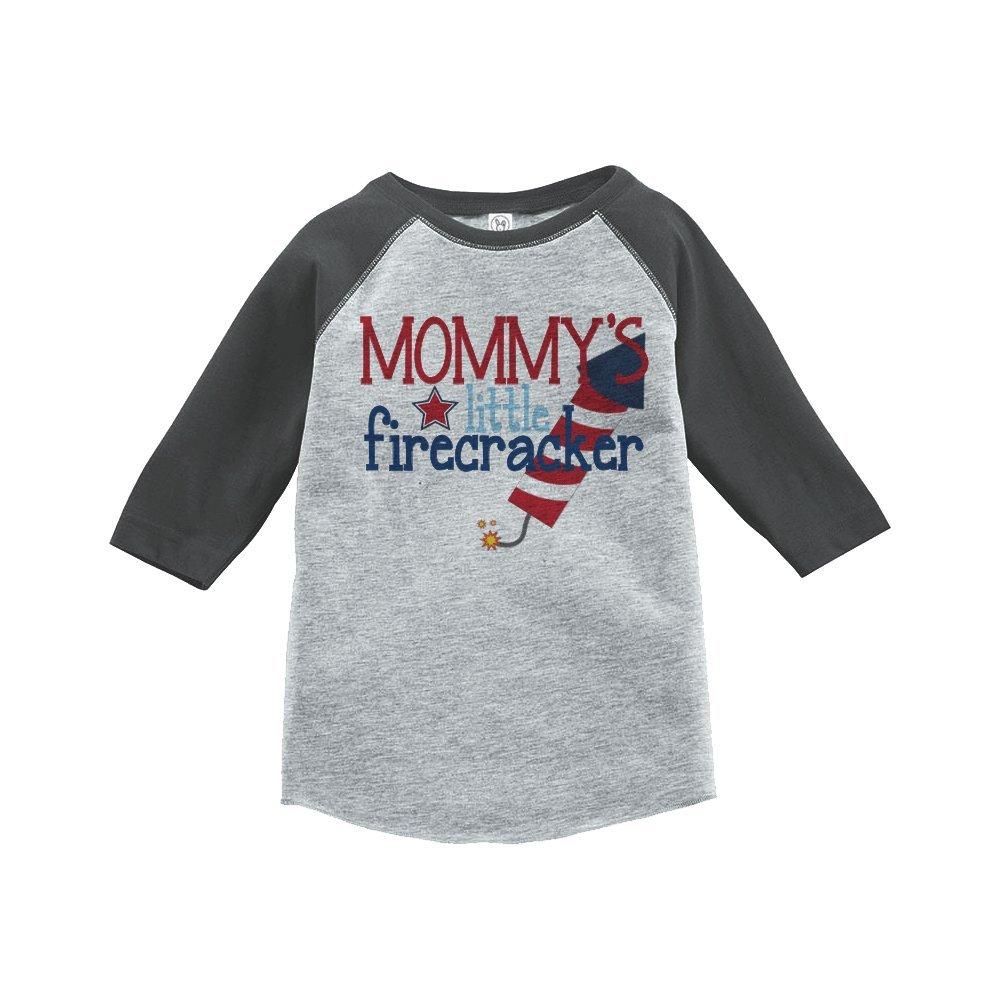 Custom Party Shop Mommys Firecracker 4th of July Raglan Tee