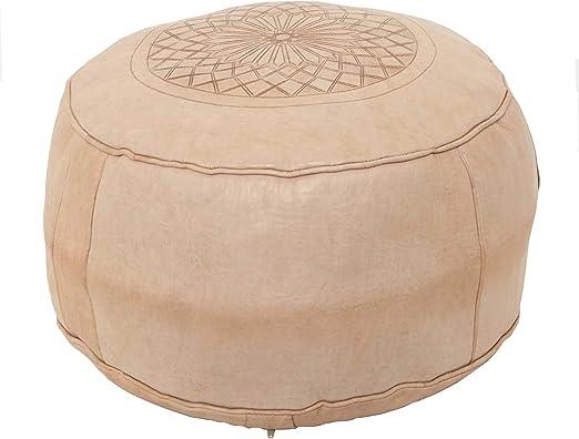 Casa Moro - Taburete tapizado de piel marroquí oriental, incluye ...