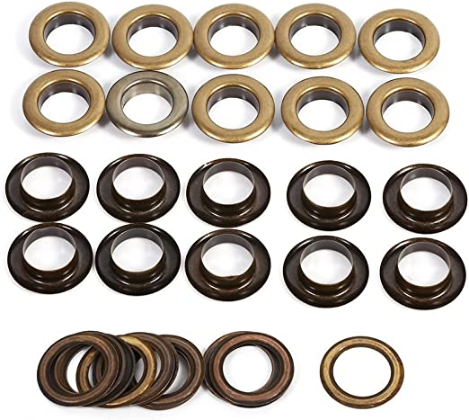 Eyelet Punch Die Tool Kits 100set 6mm Eyelets Grommet Washer For Leather Craft
