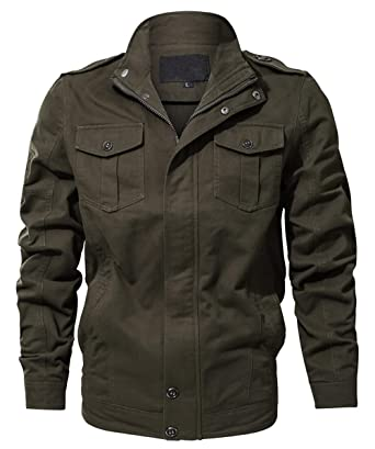 wulful men s cotton military jackets casual outdoor coat windbreaker