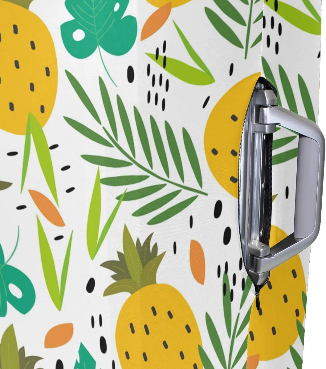 Baggage Covers Tropical Leaves Pineapples Pattern Washable Protective Case