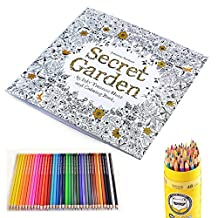 Secret Garden:96 Pages An Inky Expedition And Coloring Book For Adults With 48 Color Pencils