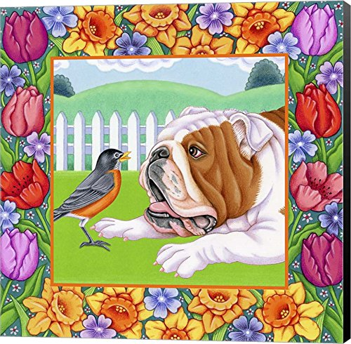 Robin Bulldog by Tomoyo Pitcher Canvas Art Wall Picture, Museum