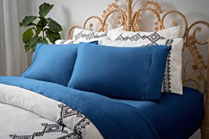 Magnolia Organics Dream Collection Pillowcase Pair - King, Moroccan Blue