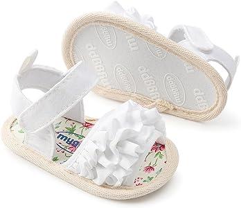 8b90f0654e296 Princesse Mode Chaussure Bébé Fille Bapteme Été Pas Cher Chaussures Bébé  Fille Premier Pas Fleur Sandales Bout Ouvert Bébé Fille Naissance 0-18 Mois