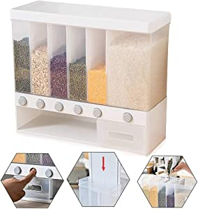 Runing Pet Pet Food Storage Container,Wall Mounted Food Dispenser,22lb Airtight Plastic Moistureproof Storage Bin for Dog Food, Cat Food and Bird Seed