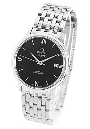save off 76c1f f0c14 Amazon | オメガ デビル プレステージ 腕時計 メンズ OMEGA ...