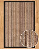 NaturalAreaRugs Boardwalk Collection Sisal Area Rug, Handmade in USA, 100% Sisal, Non-Slip Latex Backing, Durable, Stain Resistant, Eco/Environment-Friendly, (5 Feet x 8 Feet) Black Color