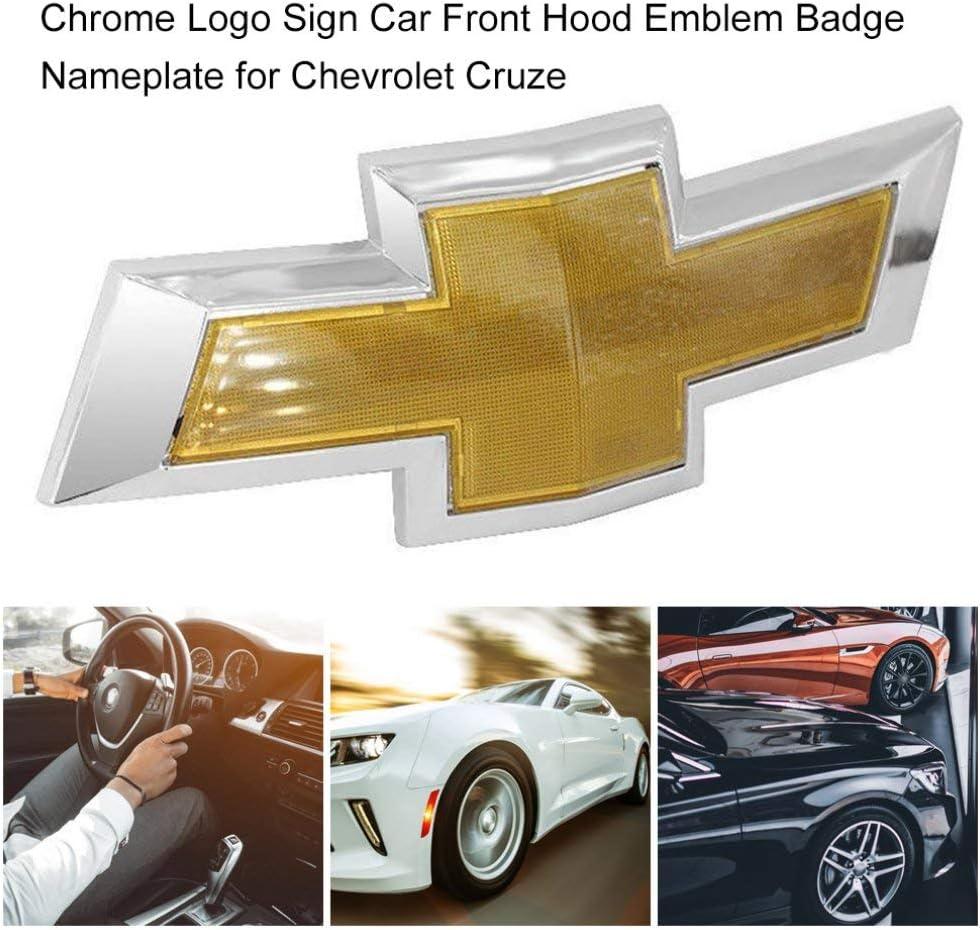 Kitechildhood Chrome Logo Signe Voiture arri/ère Tronc embl/ème Badge Plaque signal/étique pour Chevrolet Cruze Argent /& Or Couleur