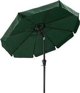 10FT Patio Umbrella Outdoor Garden Table Umbrella Market Umbrella with Push Button Tilt 12+Colors,Green