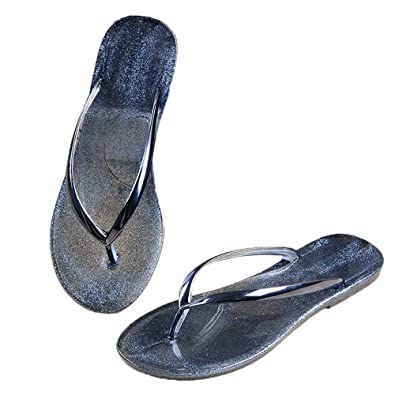 c767c1b7ecd7 Image Unavailable. Image not available for. Color  heipeiwa Womens Flip  Flops Jelly Shoes ...