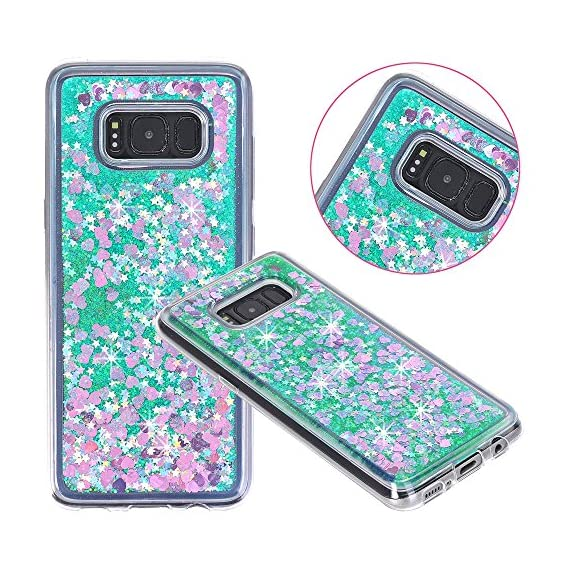 Galaxy S8 Case, VPR Sakura Liquid Quicksand Moving Stars Bling Glitter Floating Dynamic Flowing Love Heart Clear Soft TPU Protective Cover for Samsung Galaxy S8 1 Compatible Model: Samsung Galaxy S8. Material: High quality polycarbonate plastic and quicksand. The case is transparent with liquid inside,which is fashionable ,popular and interesting.