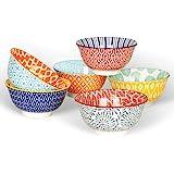 KitchenTour Porcelain Bowls Set - 20 oz Serving Bowls For Kitchen - Cereal, Ice Cream, Soup, Salad, Rice, Dessert Ceramic Bow