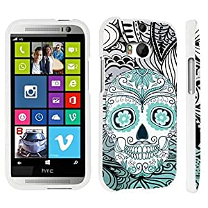 DuroCase ? HTC One M8 Hard Case White - (Day of the Dead Skull)