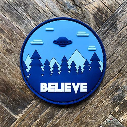 (Believe UFO Aliens PVC Morale Patch - Hook Backed by NEO Tactical Gear)
