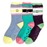 3-Pairs Womens Noble Mount Soft Anti-Skid Fuzzy Winter Socks - 9-11