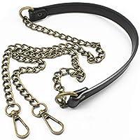 "Black 120cm/47.2"" Replacement Chain & PU Synthetic Leather Shoulder Crossbody Straps Bags/Handbag/Handle/Purse (Bronze)"