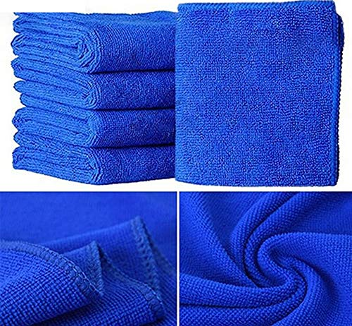 HEALTHLL New Practical 10Pcs Blue Soft Absorbent Wash Cloth Car Auto Care Microfiber from HEALTHLL