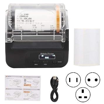 ASHATA Impresora térmica Bluetooth, excelente compatibilidad ...