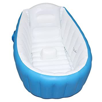 Baby Inflatable Bathtub, FLYMEI Portable Infant Toddler Non Slip Bathing Tub  Travel Bathtub Mini Air