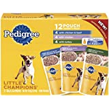 PEDIGREE LITTLE CHAMPIONS Meaty Ground Chicken Variety Pack Dog Food 5.3 Ounces (Pack of 12)