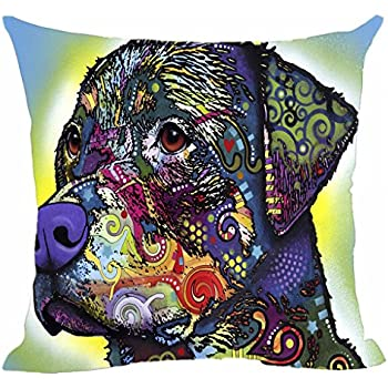 My Honey Pillow Pillow Cover dog dog rottweiler 18 in*18 Twin Sides by My Honey Pillow