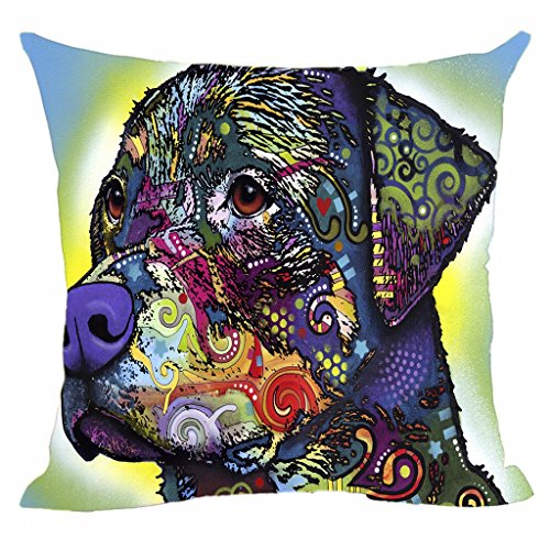 CafeTime Lovely Pet Rottweiler Pillow Covers Art Dog Throw Pillow Case Customize Square Pillowcase For Home Sofa Couch Good Gift For Dog Lover 18
