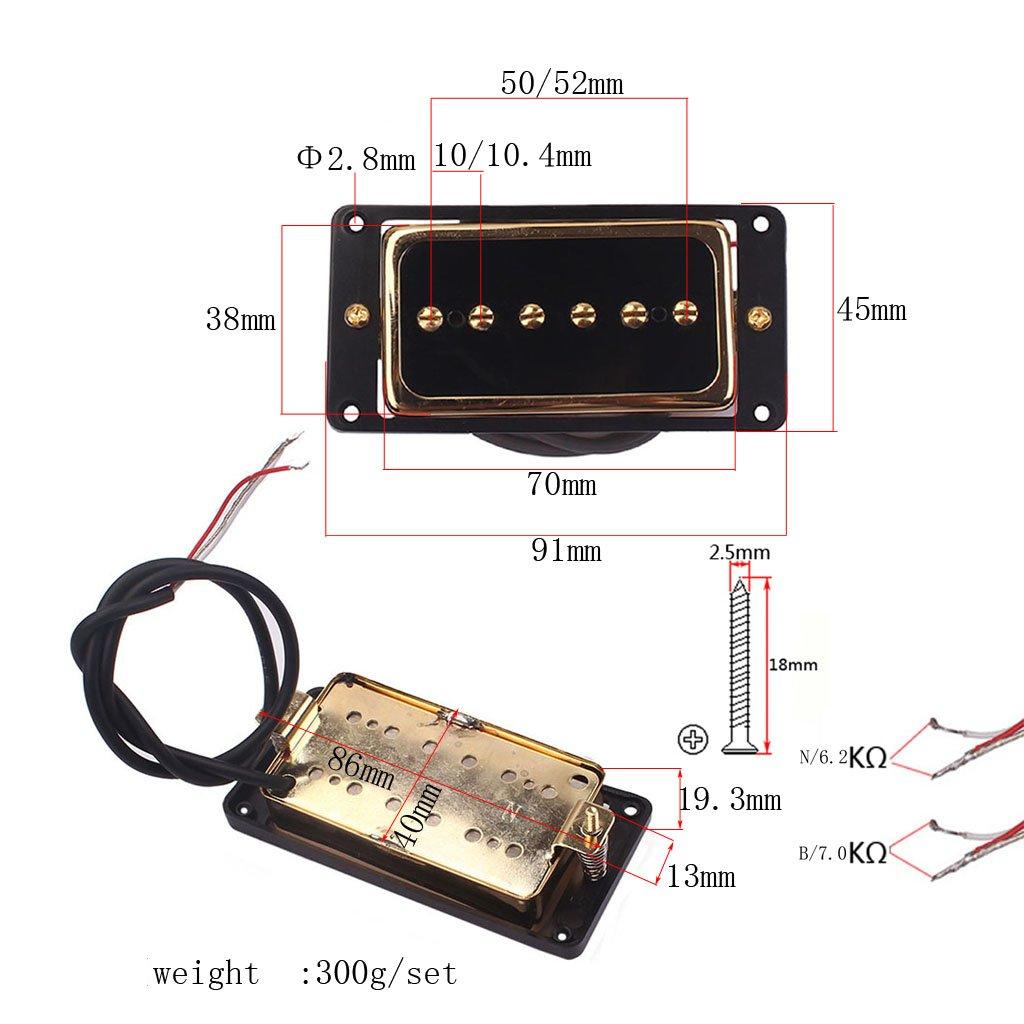 D DOLITY Soap Bar Gold Single Pickup Alnico 5 Humbucker Set for Electric Guitar Part
