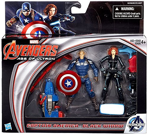 Marvel Avengers Age of Ultron Age of Ultron Captain America & Black Widow Exclusive 3 3/4