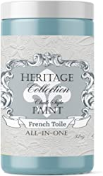 French Toile, Heritage Collection All In One Chalk Style Paint (NO WAX!) (32oz)