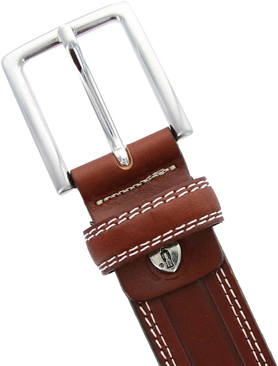 Made in Italy Oil-Tanned Italian Leather Dress Casual Belt for Men
