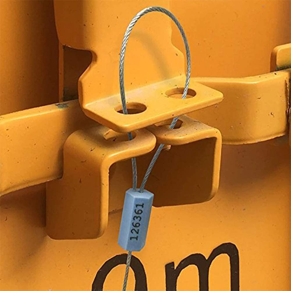 Oil Tank Milk Vehicle Vans Cargo Containers Apawband 20pcs Security Cable Seals Numbered Security Tags Tamper Proof Tags Pull Tight Steel Wire Seals for Truck Trailers