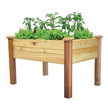 Amazon.com: StarSun Depot Elevated 2Ft x 4-Ft Cedar Wood ... on home depot wooden planter boxes, home depot wood planter box, home depot raised container, home depot pool deck box, home depot raised garden,