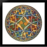 Circle Limit III 28x28 Large Black Wood Framed Print Art by M.C. Escher