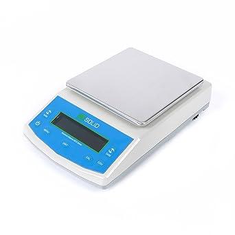 U.S. Solid 5 kg x 0,1 g Balanza electrónica de laboratorio Balanza electrónica Peso