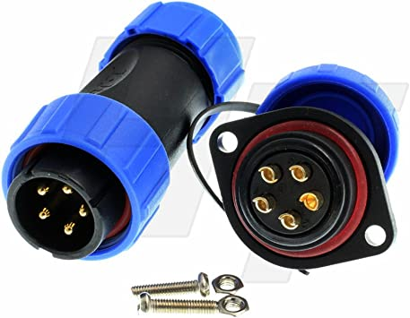 Aviation Connector Plug Set Male /& Female Waterproof Air 2 wire 2 Pin -